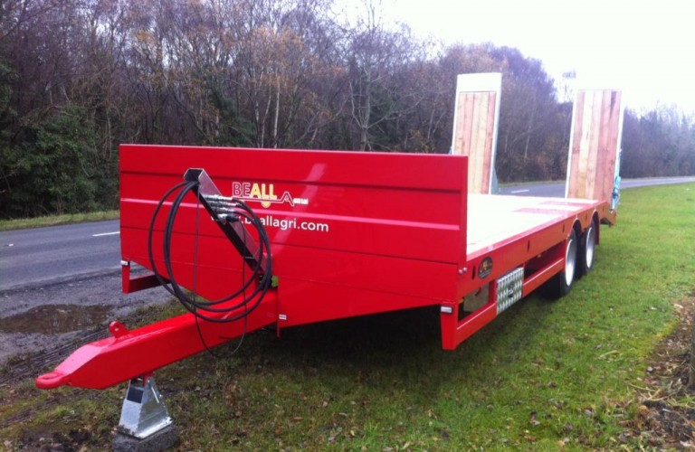 Red Low-loader
