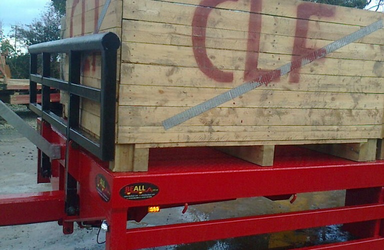 Beall Potato Trailer with front compression bar