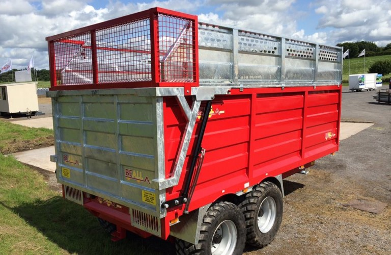 14t capacity sialge trailer with grain conversion