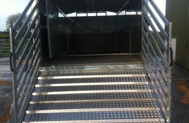 Aluminium gates opened